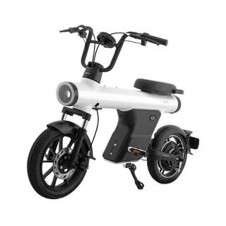 SUNRA 新日 X-CR 电动自行车 48V12Ah锂电池 香脂白