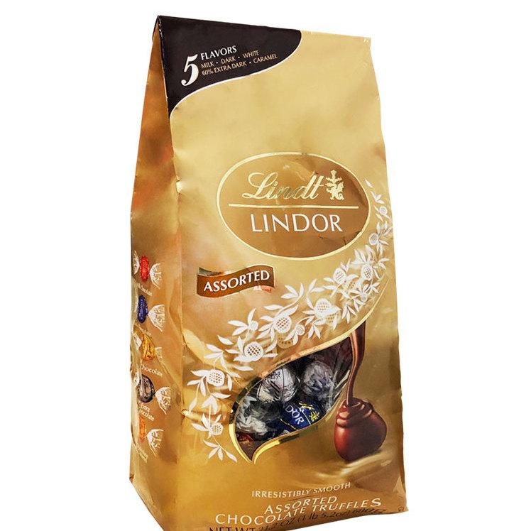 Lindt 瑞士莲 软心巧克力 混合口味 600g(牛奶+纯味黑巧克力+焦糖+黑巧克力+白巧克力)