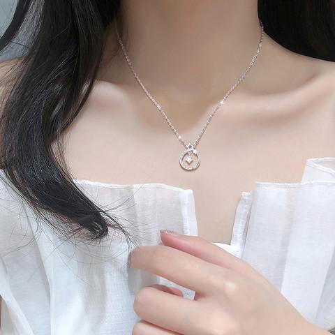 Winy 唯一 925纯银项链锁骨链毛衣链脖子颈链吊坠简约时尚闺蜜女士生日礼物