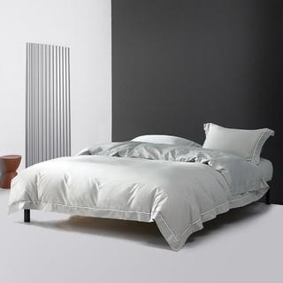 MERCURY 水星家纺 40支全棉素色四件套床上用品床单被套纯棉套件