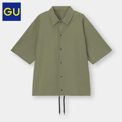 GU 极优 男装宽松教练衬衫5分袖潮流休闲衬衫优衣库姐妹品牌333929