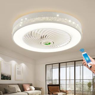 TCL 卧室风扇灯具led吸顶灯饰隐形扇客厅餐厅吊灯智能电扇