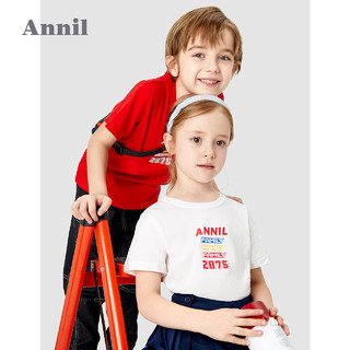 Annil 安奈儿 儿童短袖T恤