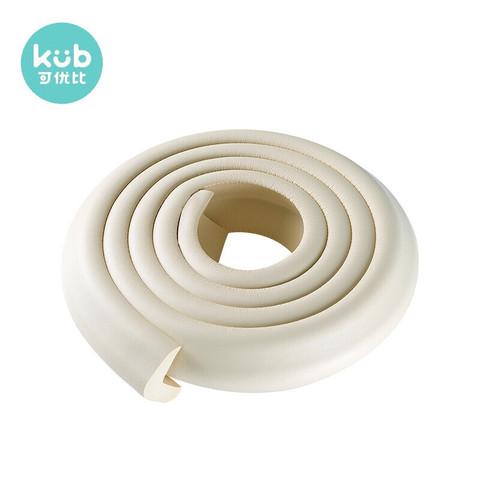 kub 可优比 KUB) 防撞条加厚加宽儿童防撞条茶几防撞护角宝宝桌角防碰撞米白色L型2m
