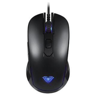 AULA 狼蛛 G502 有声版 有线鼠标 3500DPI RGB 七彩光呼吸灯 黑色
