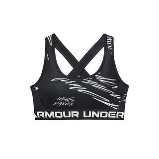 UNDER ARMOUR 安德玛 官方UA DFO女子印花训练运动内衣-中强度1362247 黑色001 M