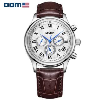 DOM 美国DOM/多姆品牌正品男士手表男自动机械手表男时尚休闲运动精钢日历防水男生手表
