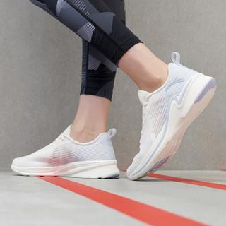 ANTA 安踏 女鞋跑步鞋夏季网面透气运动鞋回弹耐磨轻便跑鞋 象牙白/氧气蓝-4 36.5