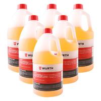伍尔特(WURTH)汽车玻璃水夏季0度去污去油膜玻璃清洁剂 2升 6瓶装