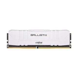 crucial 英睿达 铂胜系列 DDR4 2666MHz 白色 台式机内存 8GB BL8G26C16U4W