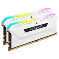 USCORSAIR 美商海盗船 复仇者RGB PRO系列 DDR4 3600MHz RGB 白色 台式机内存 32GB 16GB*2 CMH32GX4M2D3600C18W