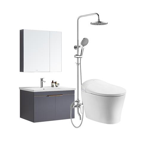 HUIDA 惠达 卫浴智能一体马桶自动翻盖坐便器浴室柜沐浴花洒喷头组合套装ET61D