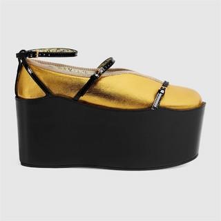 GUCCI 古驰 465976DXAC08083  女士高跟可拆卸厚底凉鞋