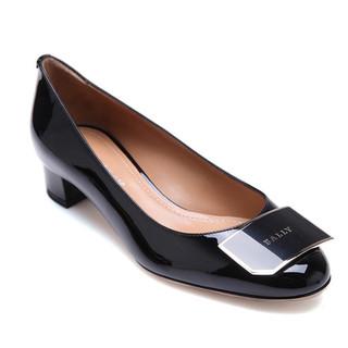 BALLY 巴利 Bally 巴利女士黑色牛漆皮材质金属装饰女士方跟单鞋 HELINE/500