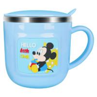 迪士尼儿童水杯家用喝水不锈钢宝宝牛奶杯带刻度防摔幼儿园口杯子  316不锈钢牛奶杯 3D米奇【316不锈钢】