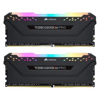 USCORSAIR 美商海盗船 复仇者RGB PRO系列 DDR4 3200MHz RGB 台式机内存 黑色 16GB 8GBx2