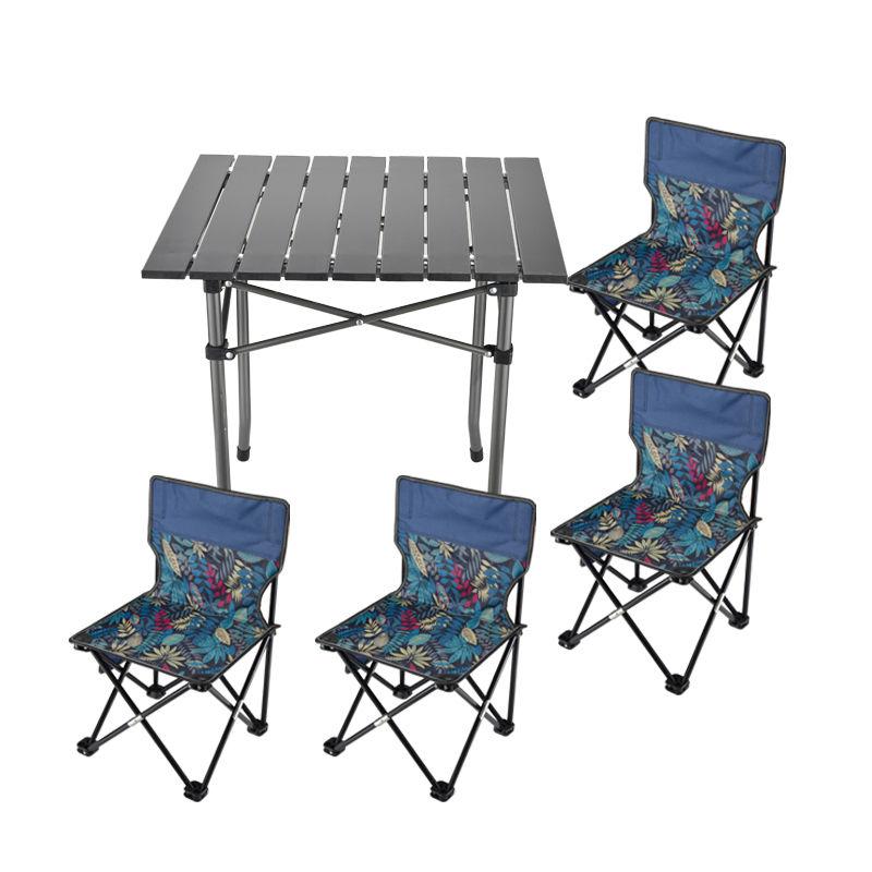 原始人 户外折叠桌椅套装4座1桌迷彩