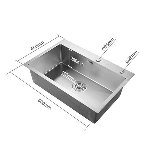 ARROW 箭牌卫浴 AE5560264G 304不锈钢手工水槽 A款手工单槽 标配版 不含龙头