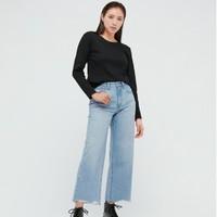 UNIQLO 优衣库 433249 女装直筒牛仔七分裤