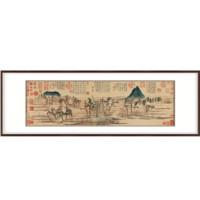 赵孟頫国画|原作版画《鹊华秋色图》1296年 150*55cm 宣纸 木制画框