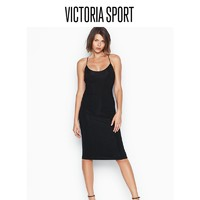 维多利亚的秘密 低圆领口 交叉型美背长款修身睡裙 11168840 2ZUO黑色 M
