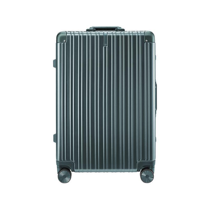 NINETYGO 90分 铝框行李箱 20英寸登机箱学生旅行箱男女商务26英寸大容量拉杆箱静音万向轮 橄榄绿 20英寸