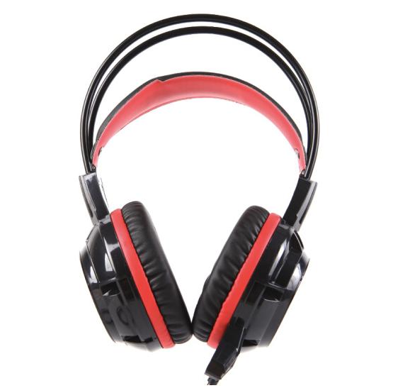 灵蛇 U200 压耳式头戴式有线耳机 黑色 USB口