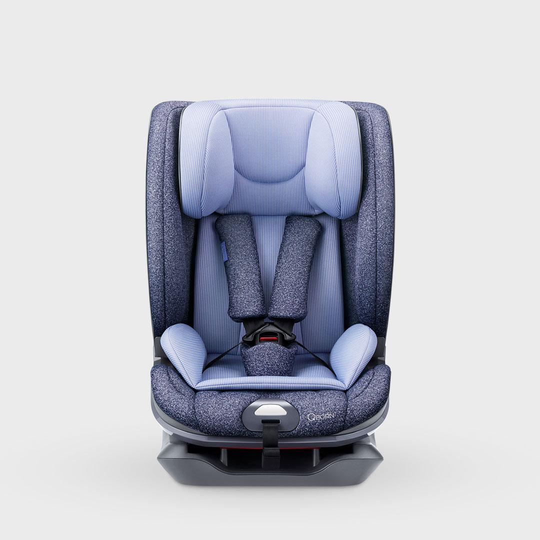 qborn 9个月-12岁儿童安全座椅 绅士蓝