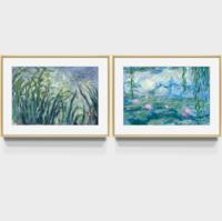 橙舍 莫奈世界名画油画挂画现代轻奢客厅风景卧餐厅室沙发背景墙装饰画