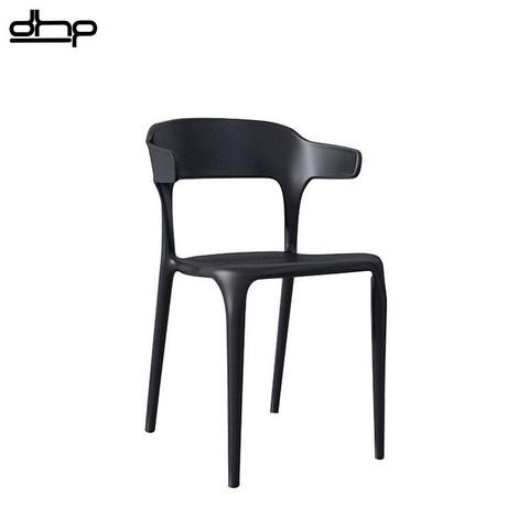 DHP餐椅塑料简约靠背家用书桌牛角椅凳轻奢现代餐厅休闲塑料椅子