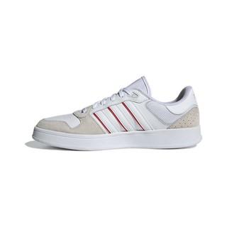 adidas 阿迪达斯 Breaknet Plus 男子休闲运动鞋 FZ3271 白色/浅米色/红色 42