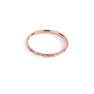 韩京钛钢镀玫瑰金超细戒指女韩版二合一组合指环冷淡风食指尾戒