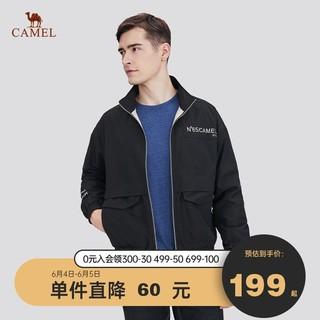 CAMEL 骆驼 男装 外套春秋款韩版潮流工装上衣休闲百搭帅气男生立领夹克