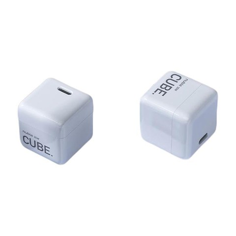 nubia 努比亚 30W GaN氮化镓手机充电器 Type-C 30WPD快充 奶油白