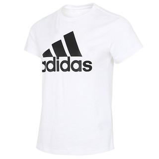 adidas 阿迪达斯 女装短袖上衣2021新款跑步训练健身运动半袖休闲透气圆领T恤