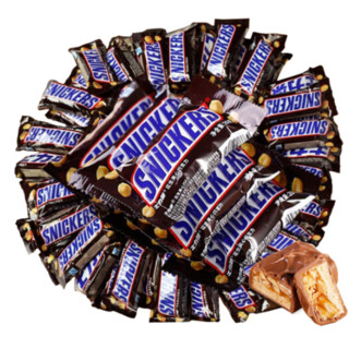 SNICKERS 士力架 花生夹心巧克力 500g 散装