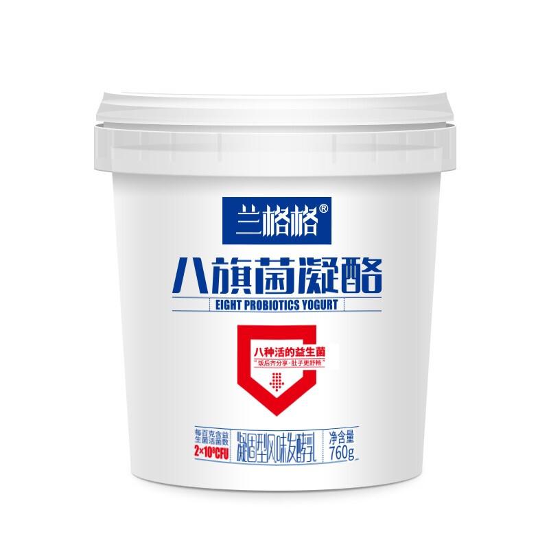 兰格格 八旗菌凝酪 凝固型酸奶 760g