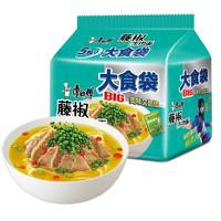 康师傅 大食袋藤椒牛肉面   五连包