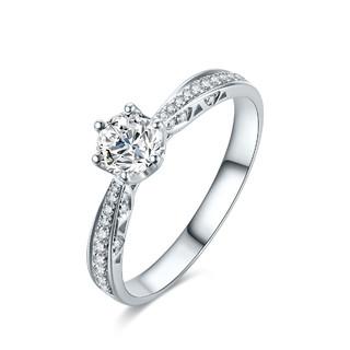 ZLF 周六福 18K金钻戒女群镶钻石戒指结婚戒指女戒