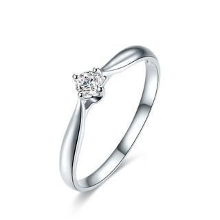 ZLF 周六福 18K金戒指女款约10分钻石戒指结婚钻戒女