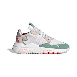 adidas Originals 阿迪达斯官网 adidas 三叶草 NITE JOGGER W 女鞋低帮经典运动鞋H03251 白/浅灰/绿/深灰/红 36(220mm)