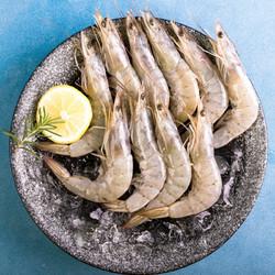 国产活冻盐田白对虾 净重1kg*3件+赠我爱渔 真鳕鱼腰肉250g(去皮去骨去刺)(另有万景款可选)