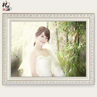 实木婚纱照相框挂墙12欧式16寸20洗照片24创意36摆台画框定制做成