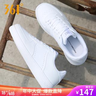 361° 361度板鞋男鞋夏季透气运动鞋低帮休闲鞋小白鞋 -1 361度白//乌黑色 40