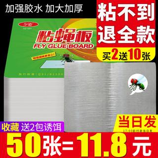粘蝇纸苍蝇贴强力粘蝇板神器杀手灭蝇子蚊子克星捕捉器家用一扫光