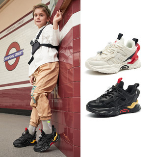 BeLLE 百丽 2021春季新款透气网面轻便跑步鞋中大童鞋子休闲运动鞋男童鞋