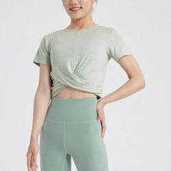 Keep 速干T恤女瑜伽背心运动短袖上衣健身衣瑜伽服裸感普拉提11401