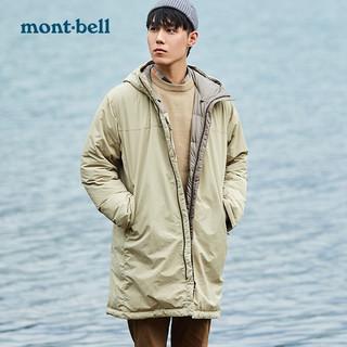 mont·bell Montbell 秋冬防风保暖男士两面穿中长款羽绒服650蓬大衣外套抗静电 1101546 黑色/炭黑色 L/175