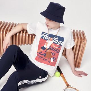 FILA 斐乐 男装运动T恤男网球时尚透气百搭舒适男式针织短袖衫