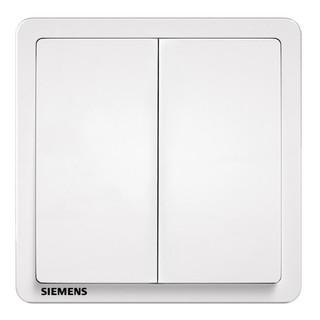 SIEMENS 西门子 5TA1421-3NC01 开关插座面板 二开单控